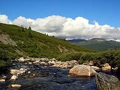 Конный поход на плато Укок : Река Мукыр