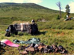 Конный поход на плато Укок : Стоянка в долине реки Мукыр