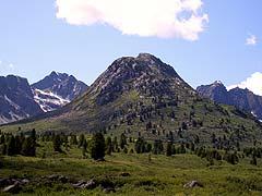 Конный поход на плато Укок : Гора Молибден