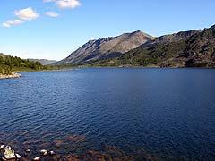 Конный поход на плато Укок : Озеро Алахинское