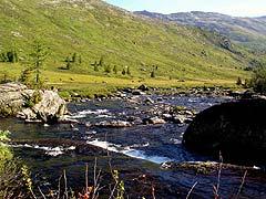 Конный поход на плато Укок : Река Кара-Алаха