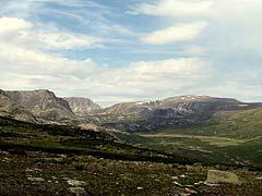 Конный поход на плато Укок : Высокогорный пейзаж