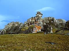 Конный поход на плато Укок : Урочище Чокпартас (Шокпартас)