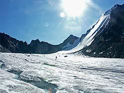 Горный Алтай : Аккемский ледник