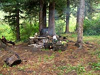 Горный Алтай : Поход от Чемала до Телецкого (лето 2007) : Стоянка на Карасу