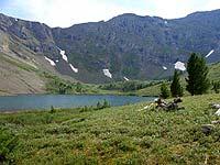 Горный Алтай : Поход от Чемала до Телецкого (лето 2007) : Озеро Уймень. Тут рыбы нет!