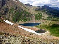 Горный Алтай : Поход от Чемала до Телецкого (лето 2007) : Озера за перевалом