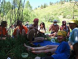 Горный Алтай : Велопоход «Два Алтая» : Обед на речке Ханхара