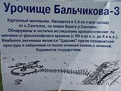 Горный Алтай : Велопоход «Два Алтая» : Табличка около «Царского кургана»