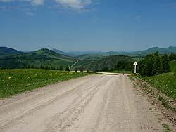 Горный Алтай : Велопоход «Два Алтая» : Дорога за пер. Сентелек в сторону Березовки