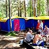 Горный Алтай : Туркомплекс  «Берель» : Стационарные палатки
