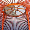 Горный Алтай : Каракольская долина : Турбаза Каракол : Расписной потолок юрты