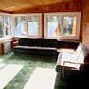 Горный Алтай : Пансионат «Серебряный берег»  : Веранда на втором этаже зимнего коттеджа